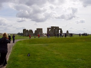 Visitors stay on path at English Heritage protected Stonehenge