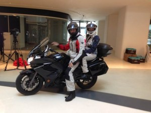 Posing with the CFMOTO 650TR we will  be riding around China