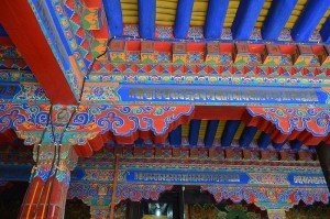 Traditional decorations, Jokhang Temple, Lhasa