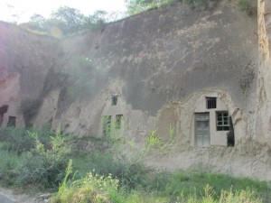 Abandoned cave dwellings