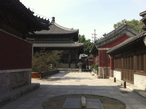 Courtyard Area of the Temple Restaurant Beijing, the final product of restoration efforts between 2008-12, now under contention with local preservation authorities.